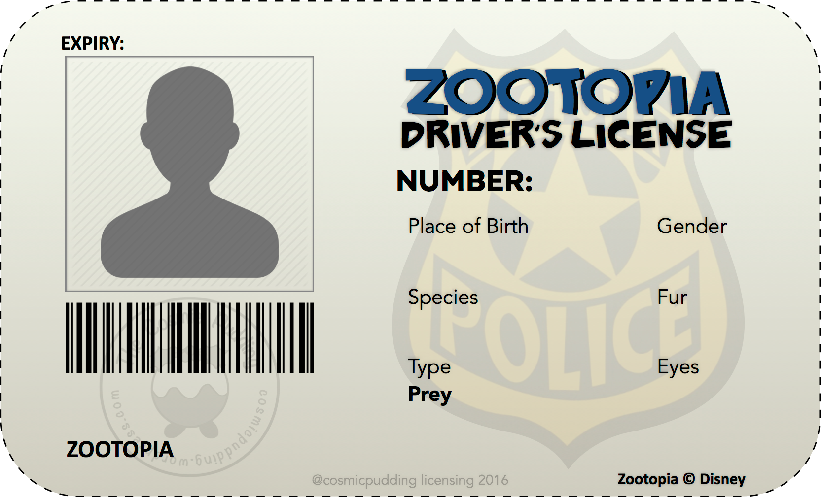 Zootopia License Faq The Adventures Of The Cosmic Pudding
